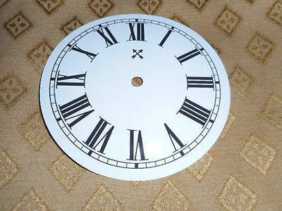 """Round HAC Paper (Card) Clock Dial - 5"""" M/T -  Roman-GLOSS WHITE - Parts/Spares 2"""