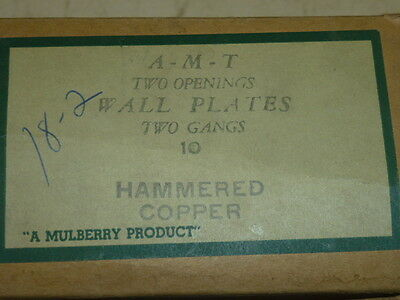 Nos! A-M-T Interchange 2-Gang Hammered Copper Finish Wall Plate, 4-Hole 3