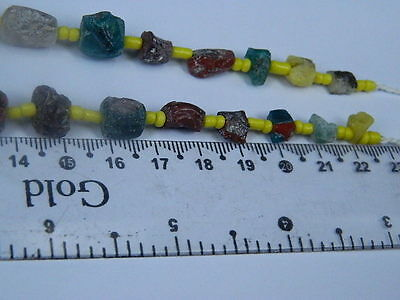 Ancient Fragment Glass Beads Strand Roman 200 BC No Reserve    #ML1119 6