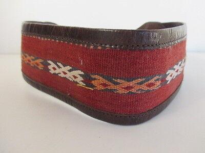 DANNIJO  Red Crochet Brown leather Morocco Waist Belt Sz 32.5 Long 4