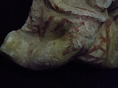 Ancient Large Size Polychrome Stucco Hanging Figure Gandhara/Gandharan 100 AD 6