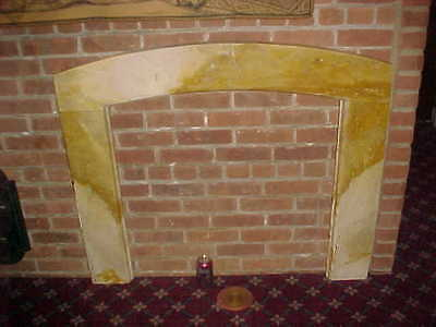 "1929 Antique Marble Surround  2 "" Thick 45"" Wide X 40"" Tall At The Top 2"