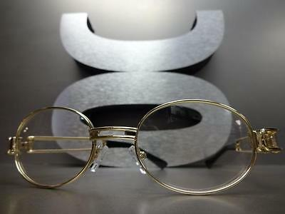 65a30872634 ... Mens CLASSIC VINTAGE RETRO Style Clear Lens EYE GLASSES Gold Metal  Fashion Frame 3