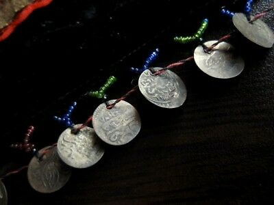 RARE ANTIQUE PINAFORE WITH 81 pcs. ANTIQUE ISLAMIC SILVER COINS  and 1 AUSTRIAN! 10
