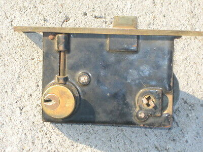 ant/vtg BL Brass Mortise Lock Exterior Deadbolt (complete set) 5