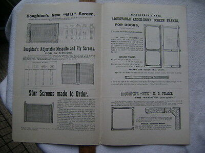 1896 Four page Screen Door advertisement - Neeld & Cleeland, Philadelphia 2