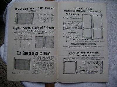 1896 Four page Screen Door advertisement - Neeld & Cleeland, Philadelphia 2