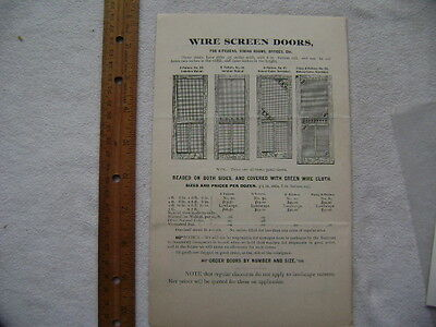 1896 Four page Screen Door advertisement - Neeld & Cleeland, Philadelphia 3