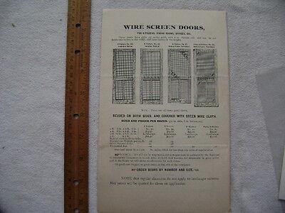 1896 Four page Screen Door advertisement - Neeld & Cleeland, Philadelphia 3