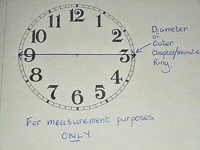 "Large Paper (Card) Clock Dial - 9"" M/T- Arabic - MATT WHITE -  Parts/Spares 4"