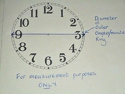 "Large Paper Clock Dial - 12"" M/T- Arabic -MATT WHITE-Face/Clock Parts/Spares 3"