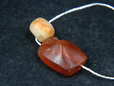 Ancient Carnelian 2 Beads Roman 200 BC    #B1137 4