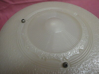 "Antique Embossed Art Glass Shade 16 1/4"" Across 5"