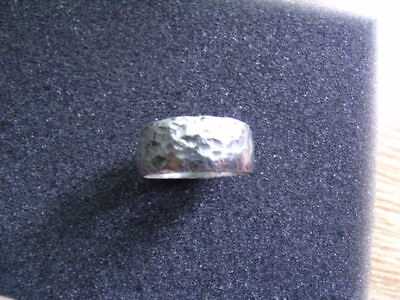 HAND CRAFTED HAMMERED 925 SILVER VIKING RING SIZED Made from Sterling Half Crown 4