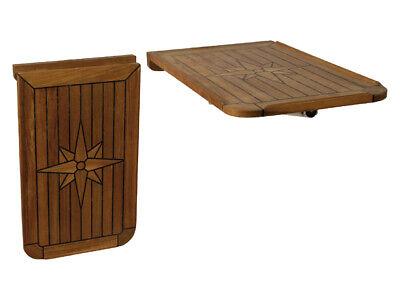 Teak Tischplatte Venice Camping für Boot 48 x 77cm LH10012: EUDE