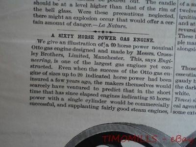 1892 Crossley Brothers Otto Gas Engine Magazine Antique Brickmaking Machinery 2