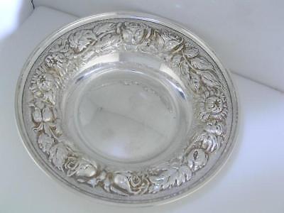 Sterling STIEFF  Bon Bon Bowl / Dish STIEFF ROSE / Chrysanthemum floral Repousse 2