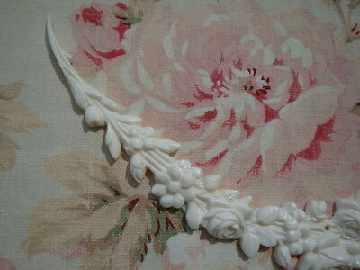 Cottage Chic Floral Roses Garland Swag Furniture Applique Architectural Pediment 4