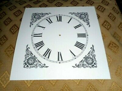 "Mantle/Shelf Paper (Card) Clock Dial - 5"" M/T-Corner Design - MATT WHITE - Parts 2"