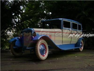 Riesige 34 Cm Lange 4 Türige Lithopgarhierte Blech Limousine Uhrwerkaufzug 2