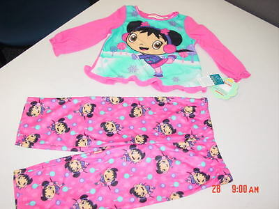 NWT Girls Nickelodeon Ni Hao Kai-lan Pajamas Flannel NEW Adorable