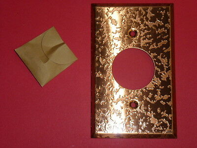 Nos! Bell 1-Gang Single Receptacle, Antique Copper Finish Wall Plate 2