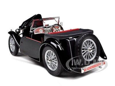 1947 Mg Tc Midget Black 1 18 Cast Model Car By Road Signature 92468 2