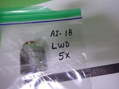 Microscope Pièce Reichert Polyvar Objective Lwd Fluor 5X Optiques Tel Quel 3