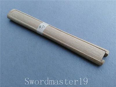 "11/"" Custom Made Strong Morozori Oak Tsuka Ray Skin Grooves for Japanese Katana"