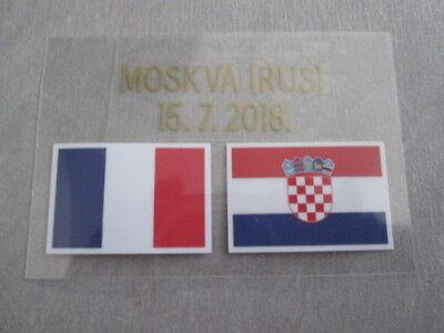 Ecriture détail maillot patch finale coupe du monde 2018 France Croatie