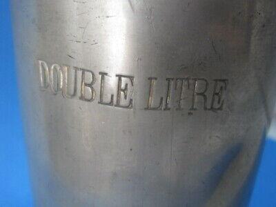 3 antike  Apothekermass Doppel Liter Double Litre u. a. Museum Auslage Laden 6