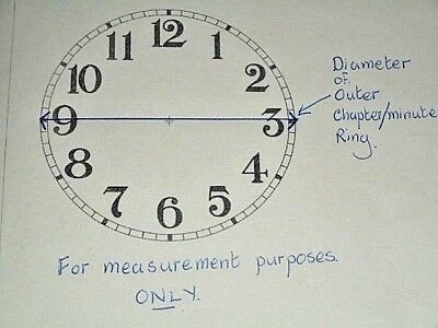 """Round Paper Clock Dial- 6 3/4"""" M/T -Roman - GLOSS WHITE-Face /Clock Parts/Spares 3"""