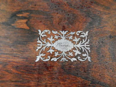 Antique Large Victorian Writing Slope Box Silver Inlaid Walnut Wooden 36cm 3