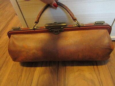 Arzt Tasche Hebamme Tasche Leder Braun antik