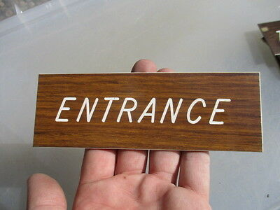 "Vinyl ""Entrance"" Plaque Sign Architectural Salvage Laminate Vintage - Retro Old 6"