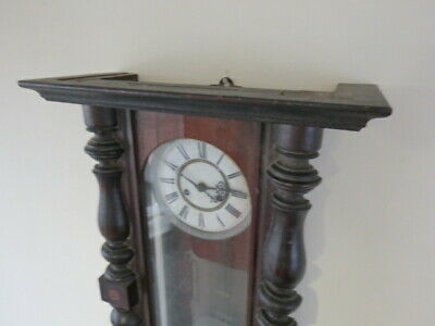 Antique German Striking Regulator Wall Clock For Restoration 2
