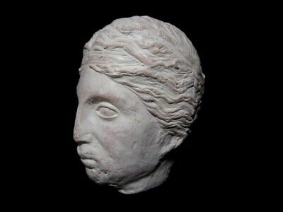HELLENISTIC TERRACOTA HEAD OF A YOUNG PRINCE as GREEK GOD DIONYSIUS, REPLICA!!! 2