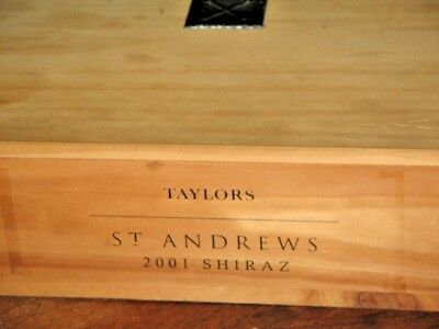 Taylors St Andrews 2001 Shiraz Wood Wine Bottle Box 55.5x34x10.5cm Perth Only 2