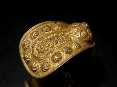 FASCINATING 1800 – 1900's. ANTIQUE FERTILITY BRONZE BRACELET 7