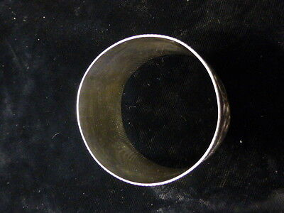 Antique American Floral Design Sterling Napkin Ring 5