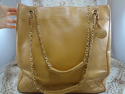 883c9fc19b04 ... Authentic VINTAGE JUMBO Chanel GST Neverfull Grand Shopper TOTE Bag  Purse T123 3