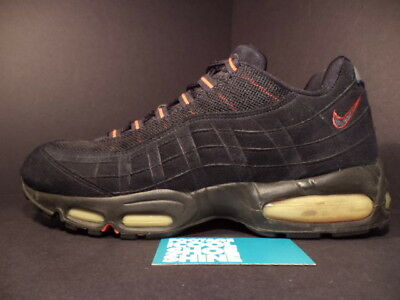 2000 NIKE AIR Max 95 1995 BLACK COMET RED BRED SUEDE 604116
