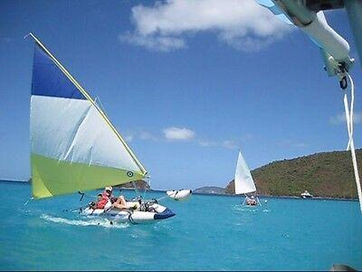 INFLATABLE SAILING KAYAK Portable Sailboat w/ Larger 55 SF Sail