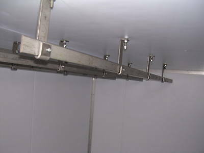 3 HOOKS Kitchen Equipment For Cold Room storage 1.5M  RAIL MEAT RAIL SYSTEM