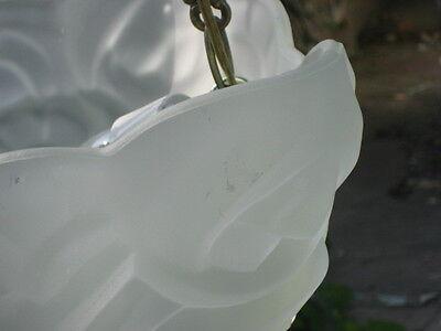 antique (PARIS STAR) ART DECO chandelier Ceiling Light Fixture FROSTED Glass 3