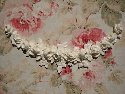 Large FRENCH ROSE SWAG GARLAND Furniture Applique Architectural Pediment 4