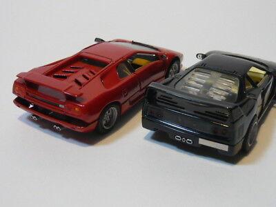 Autos Detailcars Cdc 8015 Lamborghini Schwarz Diablo Druckgegossen Satz Neu Oza