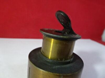 Laiton Vintage Antique Bausch Lomb Miroir Microscope Pièce Optiques Tel Quel 2