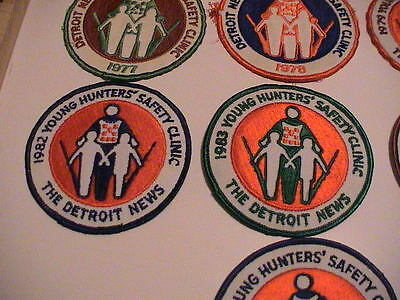 Lot /10 Detroit Michigan News 1977-1987 Youth Hunter Safety Gun Hunting Patches 5
