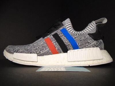 separation shoes 01be2 4089e ADIDAS NMD R1 Pk Primeknit Tri Color White Black Red Blue Oreo Bb2888 Boost  9.5